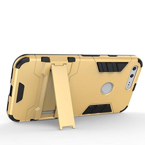 Google Pixel Case, 2 in 1 neue Rüstung Tough Style Hybrid Dual Layer Rüstung Defender PC Hartschalen mit Standplatz Shockproof Case Für Google Pixel 5,2 Zoll ( Color : 2 , Size : Google Pixel 5.2 In 3