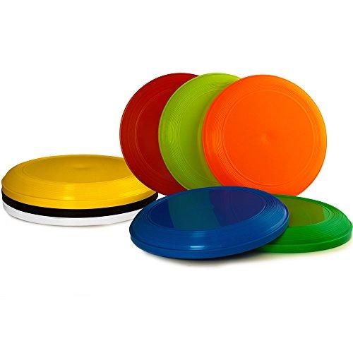 Deuba Frisbeescheiben Set | 8X leicht zu transportieren| Gute Flugeigenschaften - Wurfscheibe Frisbeescheibe Super-Disc