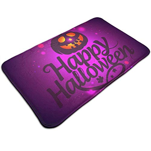 Voxpkrs Personalized Door Mats-Halloween Trick Or Treat Pumpkin Indoor Door Mat,31.5 X 19.5 Inches