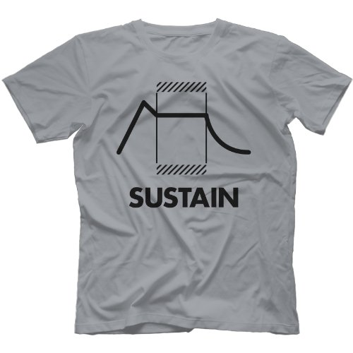 Envelope Sustain Synthesizer T-Shirt Grau