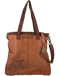 Taschendieb - Bolso de asas de Piel Lisa para mujer Marrón marrón