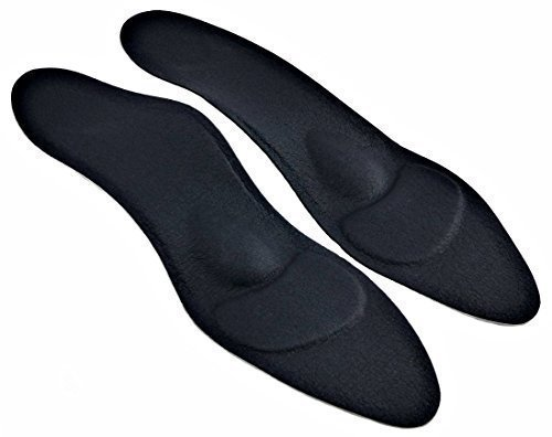 orthopädische Damen Komfort Schuheinlagen schwarz f. High Heel, Pumps u. Absatzschuhe von Green-Feet, die 1,8mm dünnen Einlegesohlen gegen Senkfuß u. Spreizfuß (39)