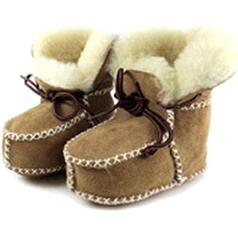 QHGstore stivali in pelle di agnello bambino con pelle di