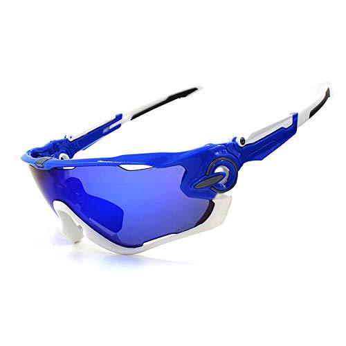 M.J.ZUR Sport-Sonnenbrille Mountainbike Fahrrad Winddicht im Freien für Männer und Frauen (Color : 3, Size : One Size)