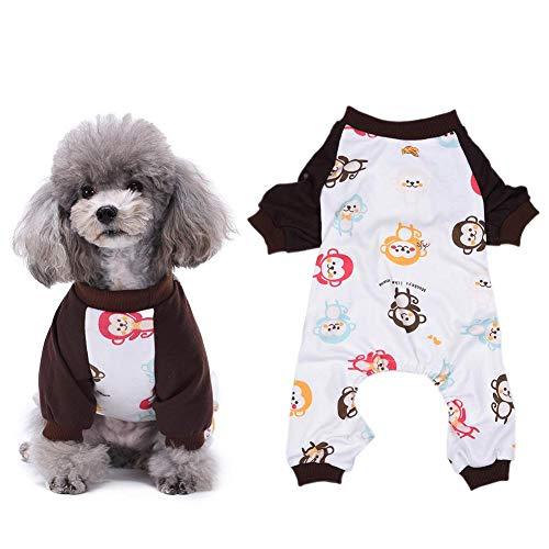 Semme Haustier-Pyjamas, Hundewelpen-Karikatur-Pyjamas-Katzen-Overall-kleines Haustier-Baumwollkleidung-Kleid-Hauptkostüm-Hundekleidung(XS)