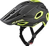 Alpina Unisex– Erwachsene ROOTAGE Fahrradhelm Black-neon-Yellow 52-57 cm
