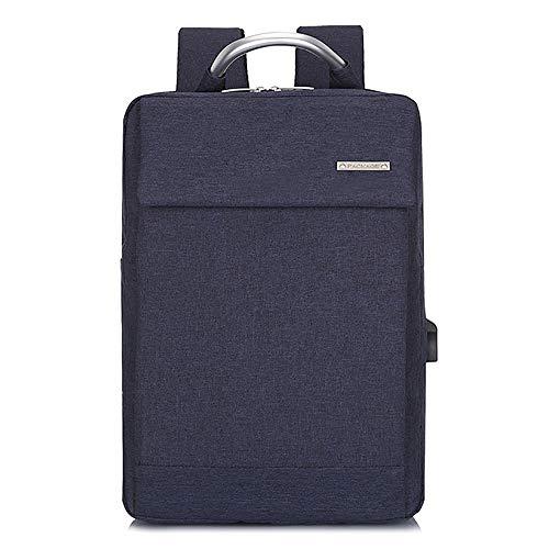 YHM Laptop Rucksack Slim Lightweight Fashion Schultasche USB Ladeanschluss Durable Männer Frauen Wasserdicht Business Casual Für College Travel,Blau