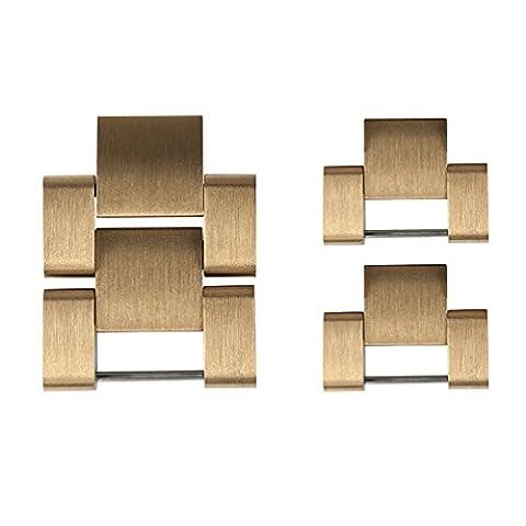 Wearlizer liens Bracelet de montre de remplacement en métal pour Apple–Doré