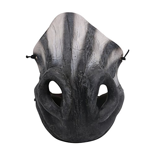 rusero Fun Horrible Scary Maske Party Clown Latex Maske Cosplay Half Face Masken Kostüm (Outfit Zebra Sexy)