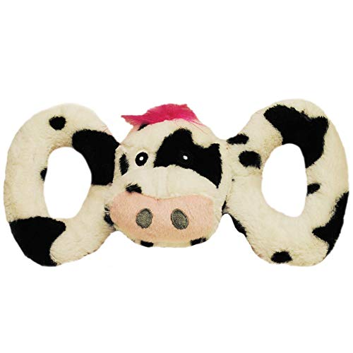 Horsemans Pride Jolly Pets Jolly Tug a Mal Cow Dog Toy Small Black White -