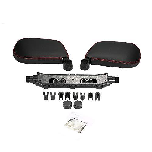 KKmoon Auto Nackenkissen Sitz Kopfstütze Kopfstütze Unterstützung Beidseitig Nacken Verstellbares Reisekissen Komfortables weiches Schlafzubehör