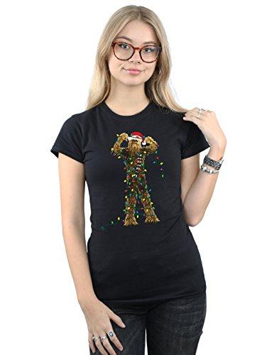 Star Wars Damen Chewbacca Christmas Lights T-Shirt XX-Large Schwarz