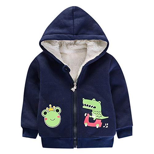 Kinder langärmelige Kapuze Cartoon Frosch Krokodil Brief drucken Winter plus Samt dicke Baumwolle...