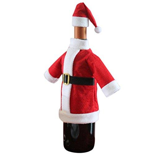 Zolimx Regali Decorazione di Natale sacchetto del vino rosso sacchetti della bottiglia copertura