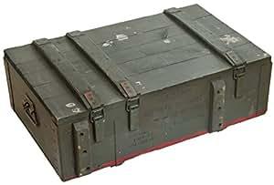 Kistenkolli Altes Land AD81 Caisse en bois vintage pour le rangement de munitions, de bouteilles de vin, de pommes, 82 x 51 x 29 cm, boîte militaire, look rétro
