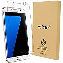 Galaxy S7 edge Protector de pantalla, YOOTECH [Cobertura Completa] [Este Caso] [Anti-Scratch] [Reutilizable] Wet Applied Protector de pantalla para Samsung Galaxy S7 edge HD Claro Anti-Burbuja Película- Garantía de por vida - Display Militare Caso
