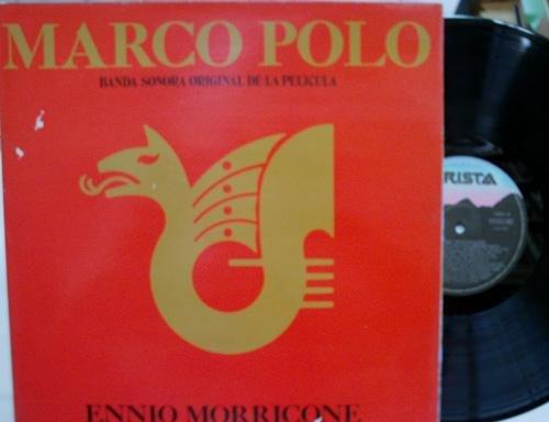 Antiguo disco. Old vinyl disc. MARCO POLO. BANDA SONORA ORIGINAL DE LA PELICULA. ENNIO MORRICONE