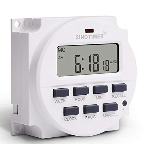 LeoboodeSINOTIMER TM618N-6V 6V LCD Digital AC Programmable Timer Switch With UL Listed Relay Inside with Countdown Time Function