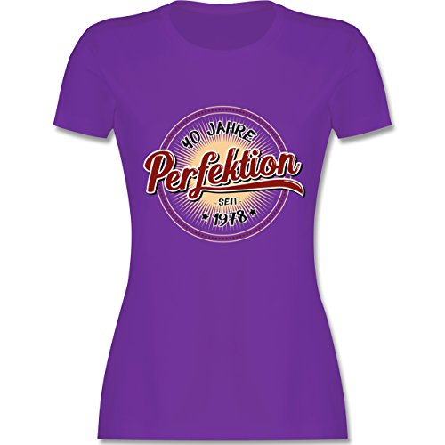 Geburtstag - 40 Jahre Perfektion Seit 1978 - Damen T-Shirt Rundhals Lila