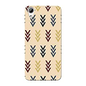 Abhivyakti Abstract Arrow Hard Back Case Cover For HTC Desire 826