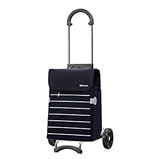 Shopping Trolley Scala Lini Blue, volume 33L, 3Years Guarantee, Made in Germany by Andersen Shopper Manufaktur