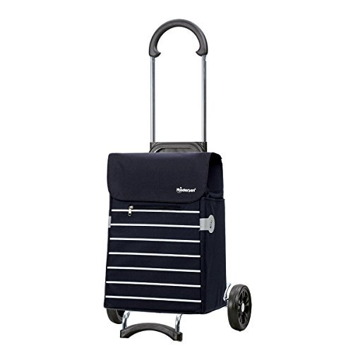 Shopping trolley Scala Lini blue , volume 33L, 3 years guarantee, Made in Germany by Andersen Shopper Manufaktur
