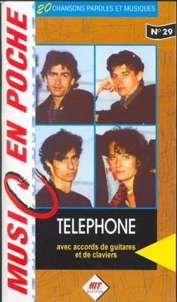 Téléphone : music en poche n° 29 - paroles et accords par Téléphone
