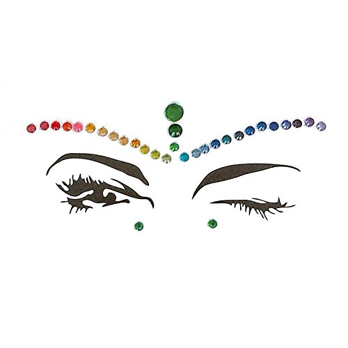 KOBWA Gesicht Edelsteine, Wiederverwendbar Juwelen Aufkleber Gesicht Strass Tattoo Körper Kristall Glitter Acryl Edelstein Für Festival Parties Shows Make-up Haut ()