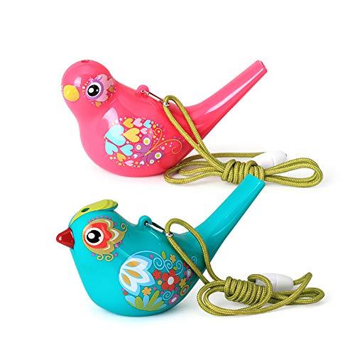 HshDUti 1 Stück Farbige Zeichnung Wasservogel Form Pfeife Musikinstrument Kinder Spielzeug Geschenk Random Color -