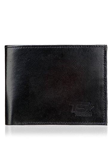 TSX Men's Black Pure Leather Wallet