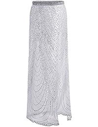 1f6a4208b59c7 Bluester Wrap-Around Skirt, Sequins Beach Bikini/Swimsuit Cover Up, Sarong  Wrap