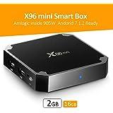 X96 Mini Android 7.1 TV Box,2GB RAM,16GB ROM, Model Amlogic S905W Quad Core ARM Cortex-A53 4k Set Top Box,Support WiFi 2.4GHz