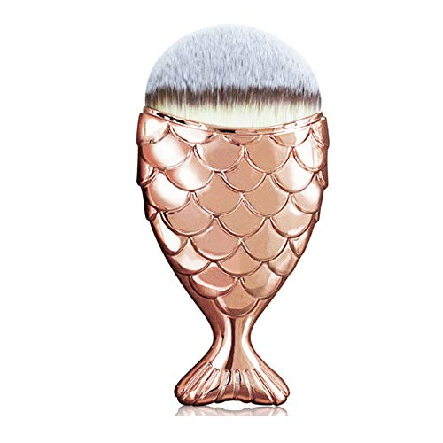 (Isuper Schönheit Meerjungfrau Fischschwanz Make-up Pinsel kreativer Glanz Make-up Pinsel Multi-Pinsel Kosmetik Pinsel Gold)