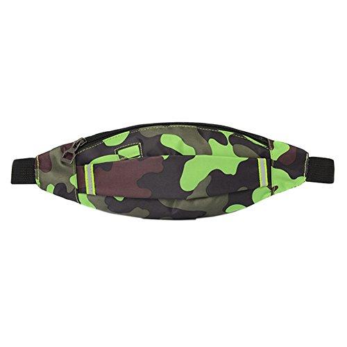 Reefa Art und Weise Camouflage Wind im Freien Männer und Frauen, die Sport-wasserdichte Taillen-Beutel laufen G-Tarnung