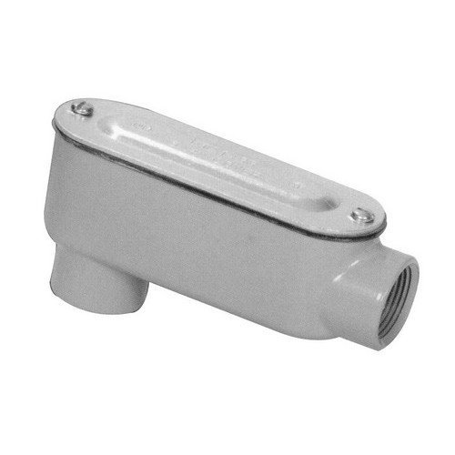 Morris 14054 Rigid Conduit Body, Aluminum, Type LB, Threaded with Cover and Gasket, 1-1/2 Thread Size by Morris -