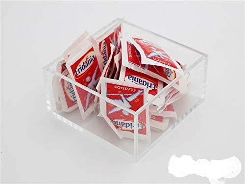 Plexcollection porta bustine di zucchero - plexiglass trasparente