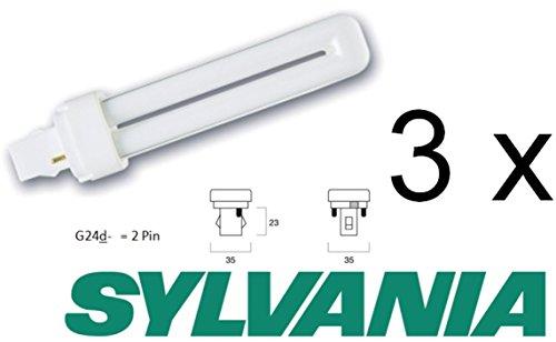 SYLVANIA sa Lynx-DE 26w//830 g24q SLV Compatto Lampada A FLUORESCENZA 3000k Bianco