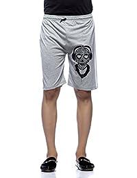 Demokrazy men's Grey printed shorts