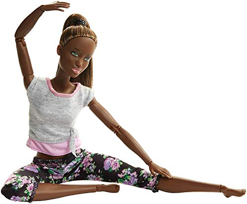 Barbie- Bambola Snodata, 22 Punti Snodabili per Tanti Movi, Multicolore, FTG83