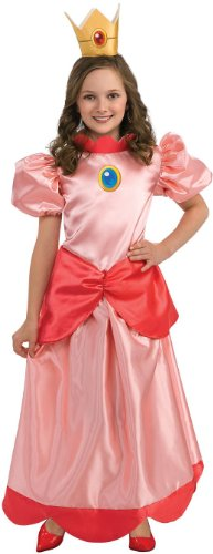 Super Mario Brothers Prinzessin Peach Kinderkostüm - (Prinzessin Peach Halloween Kostüme)