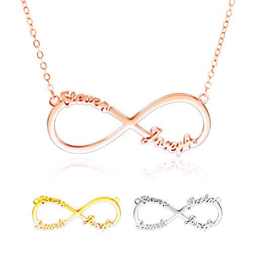 5f7eb658e098 Collar Nombre Personalizado - Collar Infinito Plata