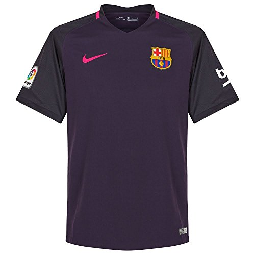Brand new, official Barcelona Away shirt for the 2016-2017 La Liga season. This authentic football kit is available in adult sizes S, M, L, XL, XXL and is manufactured by Nike.Personalise your FC Barcelona Football Kit with the name and number of ...