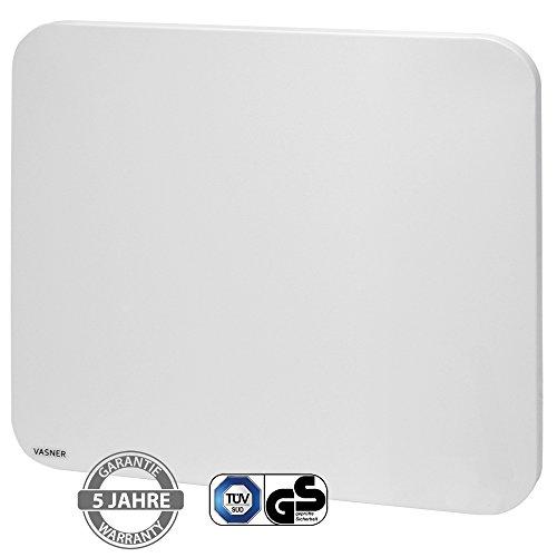 VASNER Citara M-Plus Design Infrarot-Heizung 450 Watt Metall, weiß, runde Ecken, 60x60cm, Wandmontage, Deckenmontage, Sicherheitshalterung, deutsche Infrarot-Folie, Flächenheizung, Elektroheizung