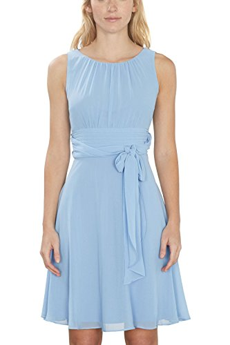 ESPRIT Collection Damen Kleid 027EO1E005, Blau (Light Blue 2 441), 42