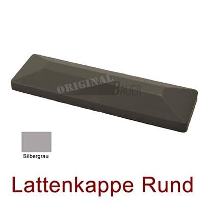 Bauer 114074, Lattenkappe gerade in Silbergrau für Bauer Kunststoff Zaun von Bauer-Systemtechnik GmbH - Du und dein Garten