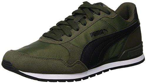 Puma Unisex-Erwachsene St Runner V2 Nl Sneaker, Grün (Forest Night-Puma Black 09), 42 EU (8 UK)