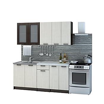 Küche riviera 180 cm küchenzeile einbauküche küchenblock erweiterbar module frei kombinierbar