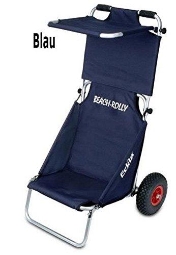 Eckla Campingbedarf Beach Rolly mit Sonnendach blau Sitzwagen