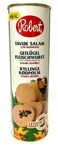 Robert Mortadella Geflügel Fleischwurst scharf Chicken Meat 850g - Tavuk Salam
