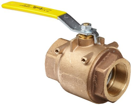 Apollo 77-100 Series Bronze Ball Valve with Actuator Mounting Pad, Two Piece, Inline, Lever, 1/4 NPT Female by Apollo Valve - Series Ball Valve
